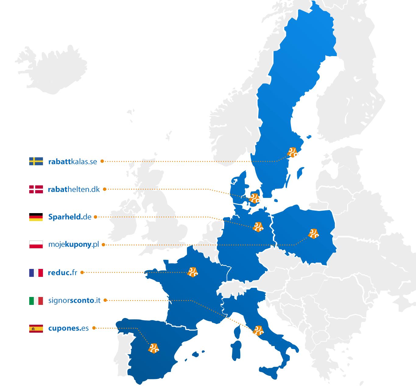 Aktywny w 7 krajach w Europie