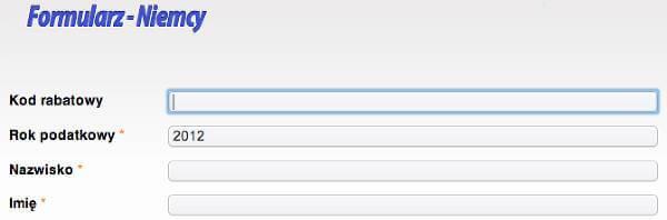 Miejsce na kupon rabatowy - zrzut ekranu z formularza.