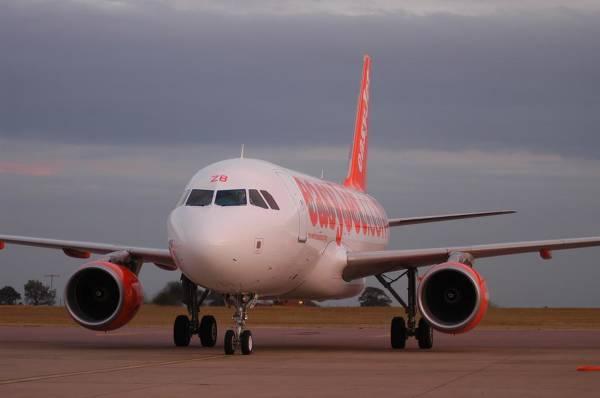Jeden z samolotów easyJet - zdjęcie z fanpage'a portalu na Facebooku.