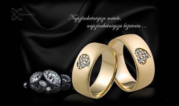 Luksusowe obrączki z Eminence - zdjęcie z fanpage'a sklepu na Facebooku.
