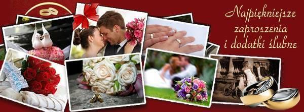 Zaproszenia i dekoracje ślubne w Dodatki Weselne - zdjęcie z fanpage'a sklepu na Facebooku.
