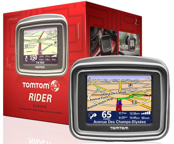 TomTom Rider - urządzenie wraz z pudełkiem.