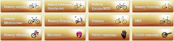 Rowery i akcesoria rowerowe we FlowerBike - zrzut ekranu ze strony głównej.