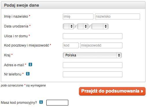 Pole do wpisania kodu kuponu rabatowego w procesie zamawiania kursu ESKK - zrzut ekranu z formularza zamówienia.