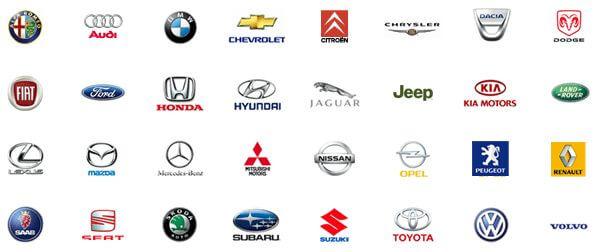 Najpopularniejsze marki samochodów, do których zakupimy części w iParts - zrzut ekranu ze sklepu.