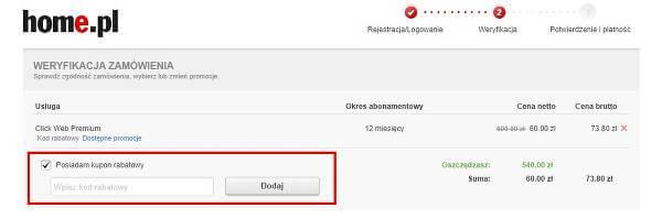 Koszyk home.pl