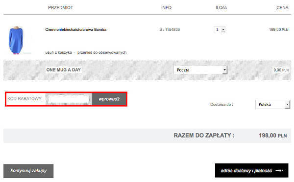 Pakamera.pl koszyk