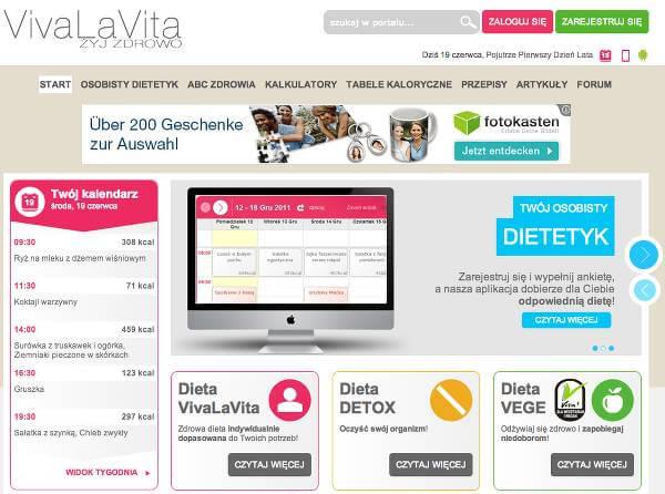 Strona główna serwisu – zrzut ekranu.