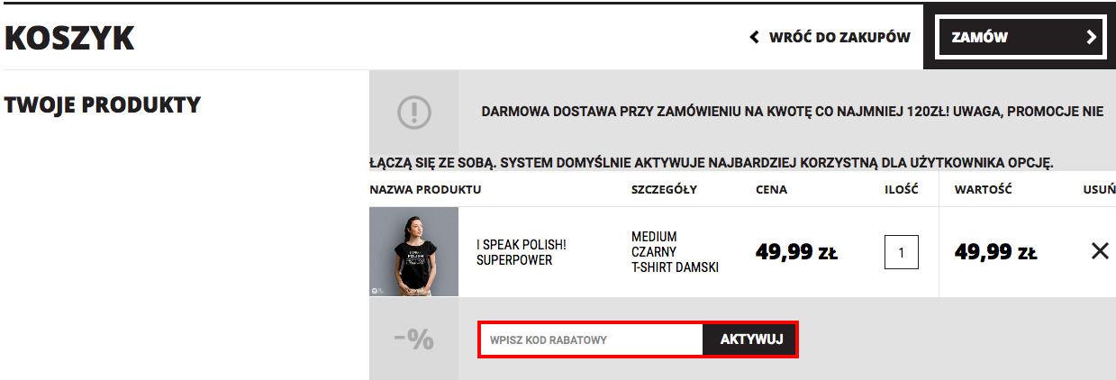 Koszulkowo.com koszyk