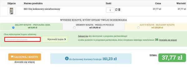 Cosdlazdrowia.pl koszyk