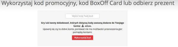 boxoff - kod zniżkowy