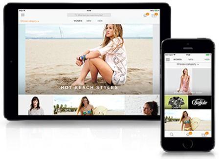 Zalando - wygląd aplikacji mobilnej